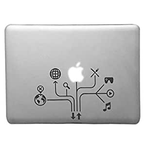 HP Mind-mapping Pattern Transparent PC Hard Case for MacBook Pro (Assorted Colors) , Purple , 15.4""