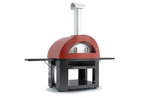 AlfaPizza Allegro Forno a legna per pizza da esterno, colore: rosso ...