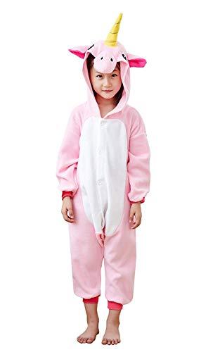 EcoOnesie Animal Onesie Pajamas Costume Pink Unicorn One Piece Cartoon Cosplay Homewear Kids Size 4
