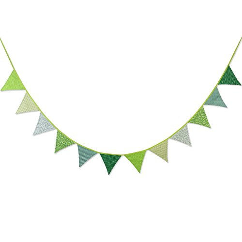 Alternating Stripe Tie - WINOMO 12pcs Banners Garlands Vintage Bunting Floral Banner Party