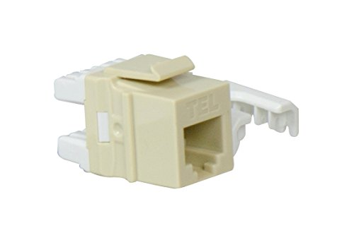 Legrand - On-Q WP3473IV Quick Connect RJ25 6-Position 6-Conductor Telephone Keystone Insert, Ivory