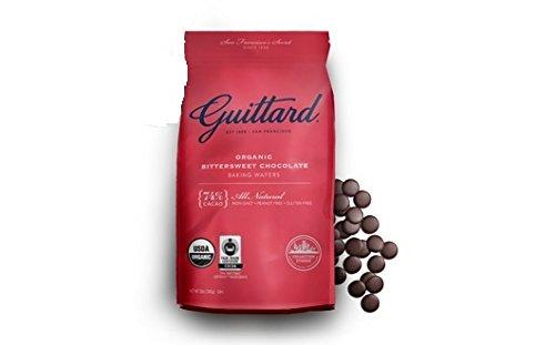 - Guittard Organic Bittersweet Chocolate 74% Dark Baking Wafers, 12 Ounces