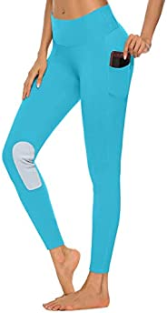 ChinFun Kids Horse Riding Tights Equestrian Breeches Knee Patch Pull-On Performance Schooling Tights