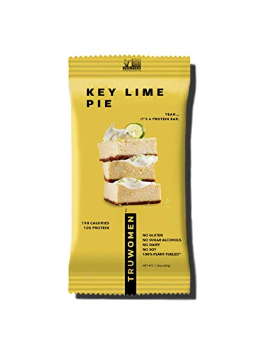TRUWOMEN Plant Fueled Protein Bars, Whipped for Key Lime (12 Count)   Non-GMO, Vegan, Gluten Free, Kosher, Soy Free, Dairy Free, Healthy Snack Bar, Natural Ingredients   12g Protein