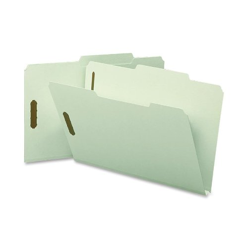 Smead Pressboard Fastener File Folder with SafeSHIELD Fasteners, 2 Fasteners, 2/5-Cut Tab Right of Center Position, 1