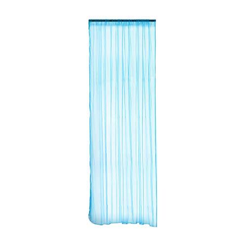 Celiy  Leaves Sheer Curtain Tulle Window Treatment Voile Drape Valance 1 Panel Fabric