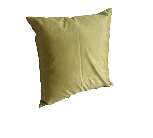 Lotus House Pea Green Silk Pillow Case by Lotus House