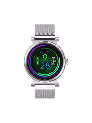 OPTA SB-165 Pales Bluetooth Fitness Watch with Large Color Display (Silver)