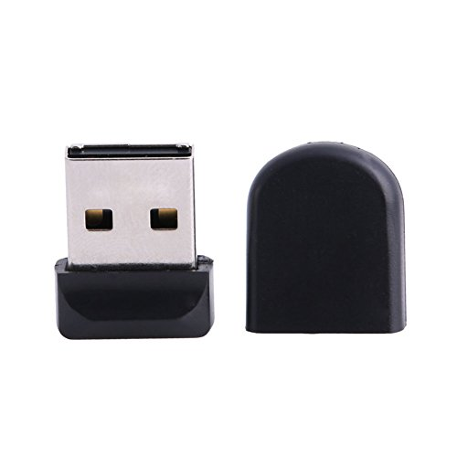 Feamos 32GB Mini U Disk USB2.0 Flash Memory Stick Pen Drive Storage High Speed New Black Easy Carrying