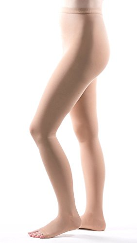 Allegro 20-30 mmHg Surgical 203/206 Pantyhose Open Toe Medical Compression Hose