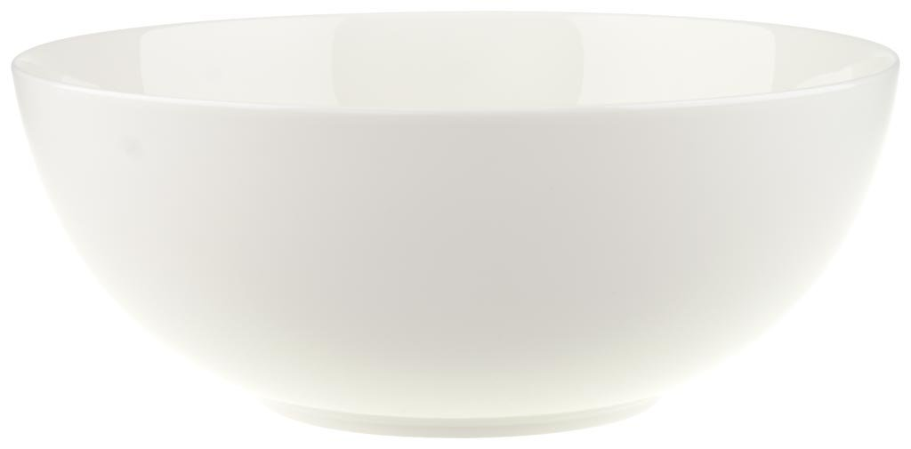 Anmut Round Vegetable Bowl by Villeroy & Boch - Premium Bone Porcelain - Made in Germany - Dishwasher and Microwave Safe - 8.5 Inches