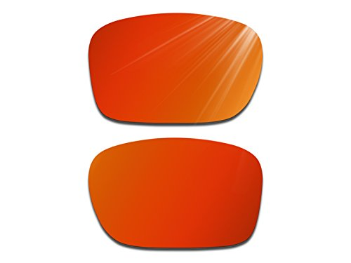 Glintbay Harden Coated Replacement Lenses for Oakley Holbrook Sunglasses - Multiple Colors (Polarized Fire Red Mirror, - Holbrook Red