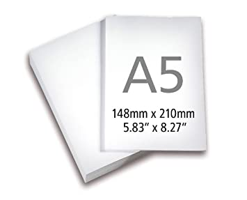 Amazon.com : A5 Paper White Ream of 250 Sheets : Office Products