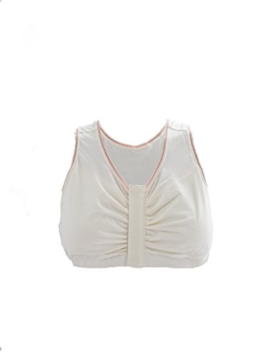 Recovery Bra - Wireless Bra Designed for Breast Cancer/Surgery Recovery(White M)