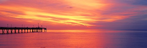 Posterazzi Pier in the ocean at sunset Caspersen Beach Sarasota County Venice Florida USA Poster Print (8 x 10)