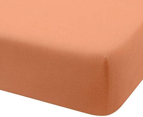 Montse Interiors Sábana Bajera Ajustable Punto Jersey Algodón 100% Jersey (para Cama de 135x190/200, Naranja): Amazon.es: Hogar
