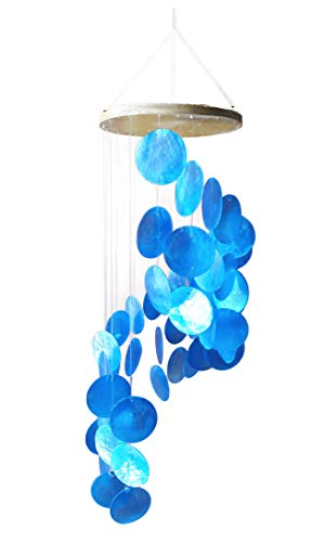 Blue Capiz Shells Wind Chime Spiral (22″) Review