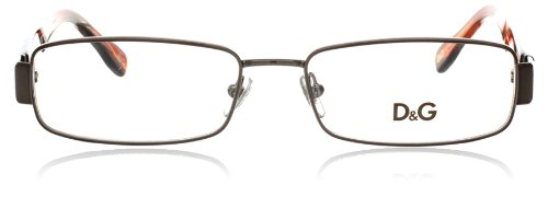 Dolce and Gabbana Glasses 5091 1012 Gunmetal and Brown 5091 Rectangle ()