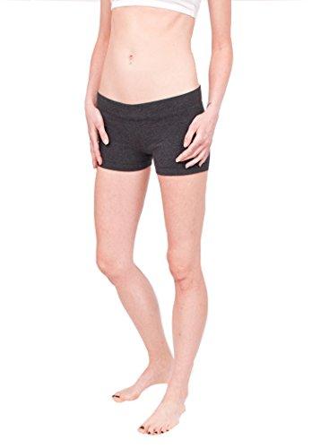 Hard Tail Bootie Shorts-Dark Charcoal (XS, Dark Charcoal)