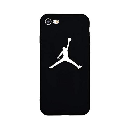 1 piece Brand NEW Logo Jordan AIR Fire Soft Case for iPhone 8Plus 7Plus 8 7 6sPlus 6s 6Plus 6 X Xs XR Xs Max 5 5s SE Phone Cases Cover (Iphone 5s Air Case 6 Jordan)