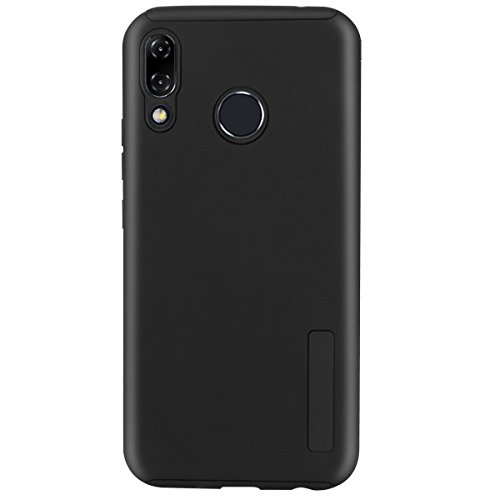 Asus ZenFone 5 ZE620KL Case, Zenfone 5z zs620kl Dual Layer Hybrid Rubber Armor Hard Plastic PC + Soft TPU Shockproof Protective Phone Case for Asus ZenFone5 ze620kl Phone Case 6.2 Inches (Black)