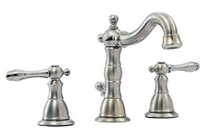 Glacier Bay Lyndhurst Series 8 In. Widespread 2 Handle High Arc Bathroom  Faucet