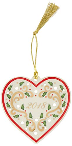 Lenox Heart (Lenox 2018 Joyous Tidings Heart Ornament)