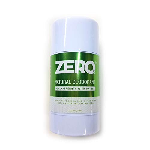 ZERO Dual Strength Aluminum Free Deodorant with Baking Soda and Oxygen - Eliminate Odor Any Time. All natural shea butter formula with essential oils