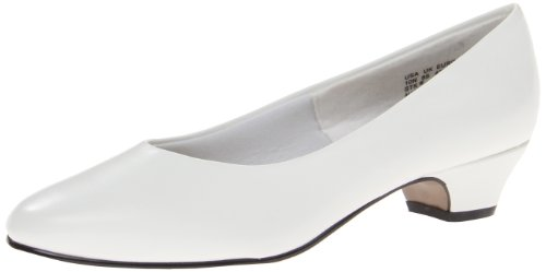 Soft Style Women's Angel II Dress Pump,White Smooth,7.5 N US