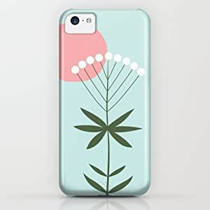Minty Flower iPhone & iphone 5c Case by Artipi