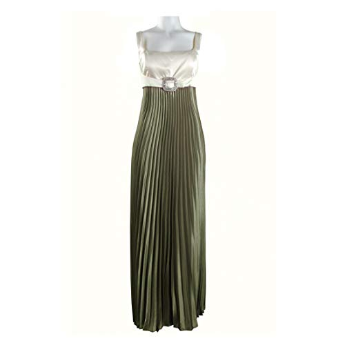 JS Collections Accordion Pleat Satin Dress with Buckle Detail, Multi, -