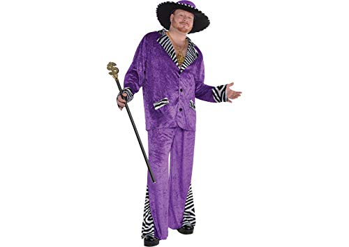 Amscan Adult Sugar Daddy Pimp Costume Plus Size