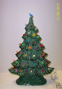 Ceramic Christmas Tree Painting Ideas.17 Green Ceramic Christmas Tree Lights Up