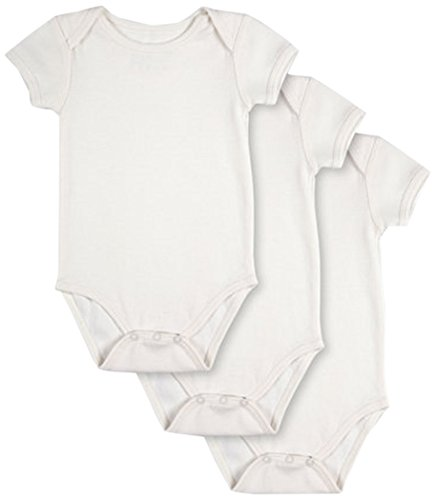 Pact Baby 3-Pack Short Sleeve, White, 6-9 (1 Organic Baby Apparel)