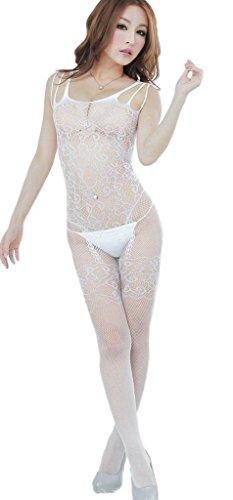 Xiang Ru Lingerie Transparente Pour Les Femmes Chaussant Floral B Justaucorps Vêtements De Nuit: Blanc