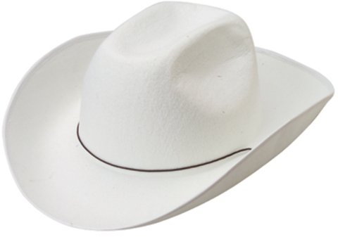 Toy Cowboy Hat White Costume