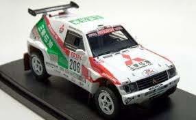 hpi 1/43 Mitsubishi Pajero (# 206) 1993 Paris-Dakar (japan import)