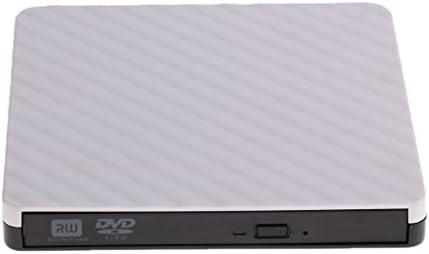 P Prettyia 外付けusb3.0 DVDオプティカルドライブDVD-RWライターバーナーリーダー - 白