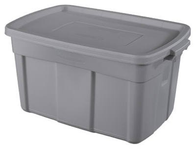 United Solutions RMRT310007 Roughneck Roughtote Storage Tote, Steel Gray Plastic, 31-Gal, Must Purchase in - Quantity 9 (Storage Tote Roughneck)