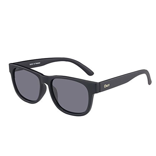 DUCO Classic Wayfarer style Polarized Sunglasses UV400 protection for Women Men - Heads Big Sunglasses For Style Wayfarer