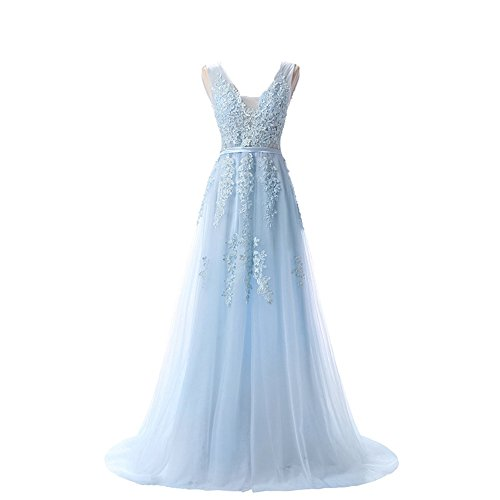light blue ball gown - 1