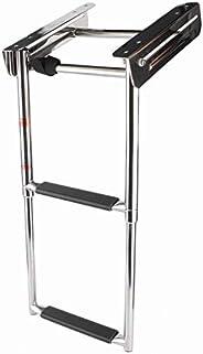 Pontoon Boat Ladder, 2 Step Stainless Steel Construction Telescoping Ladder Folding Compact Swim Step Ladder D