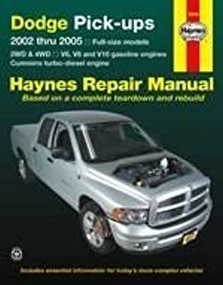 dodge pick ups 2002 thru 2008 haynes repair manual max haynes rh amazon com 96 Dodge Ram 1500 96 Dodge Ram 1500