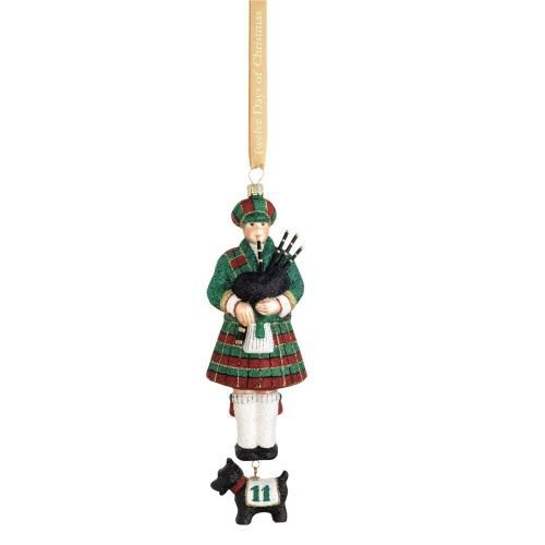 12 Day Christmas Tree Ornaments - Reed & Barton 12 Days of Christmas Eleven Pipers Piping