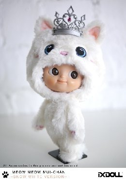 Amazon.com: iXDOLL Mini Mui-chan 2Meow Meow (Snow White) (MMC3-SW): Toys & Games