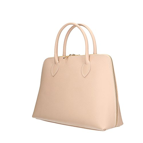 italy Handbag Vera in Aren Donna 37x27x12 a Pelle Made Rosa da Borsa in Cm Mano Paawdn