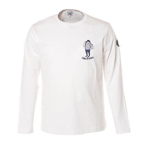 SINA COVA Men's Long Sleeve T-Shirt Large White