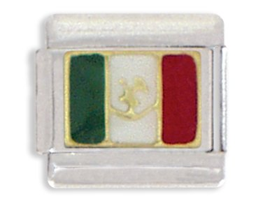 - Clearly Charming Mexican Flag Italian Charm