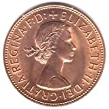 1966 UK Great Britain England Large Penny Coin KM#897