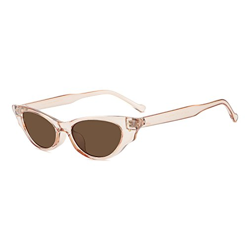 WOWSUN Vintage Cute Cat Eye Superlight Sunglasses for Women Designer Fashion Eyeglasses - Vintage Eyeglass For Frames Sale
